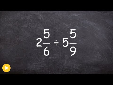 Finding the quotient of two mixed numbers