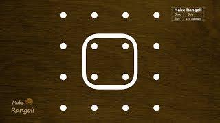 Easy Rangoli 6x2x2 Dots Latest Sikku Kolam Rangoli Kolam