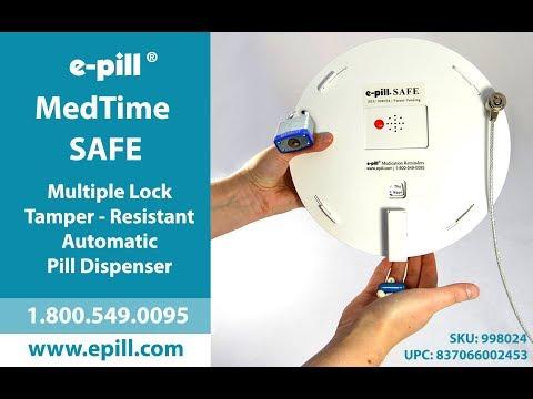 Tamper-Resistant Automatic Locked Pill Dispenser e-pill MedTime SAFE