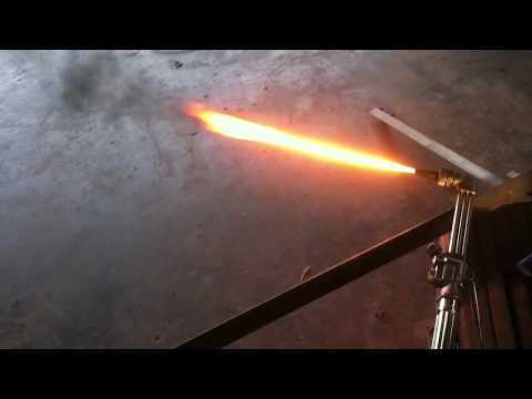 How to use a torch to cut metal.