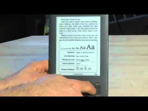 Adjusting your Kindle display