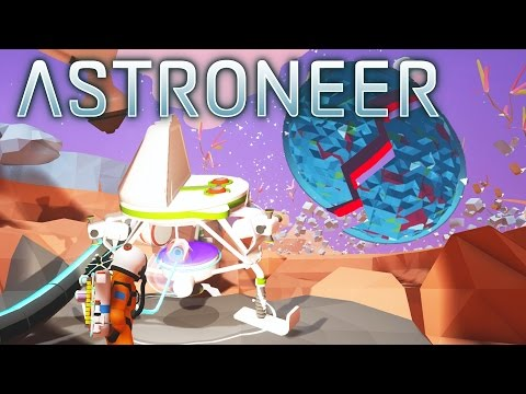 Astroneer - BREAKING THE PLANET! Rover, Space Shuttle, and Space Trading Platform! - Gameplay