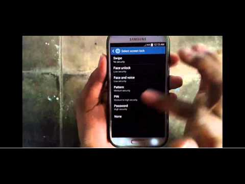 Samsung Galaxy S4 : How to Disable Lock Screen (Android Kitkat)