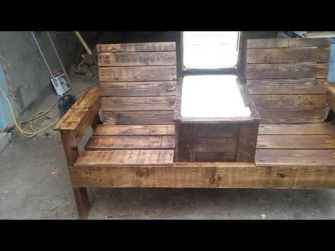 Bench with built in cooler