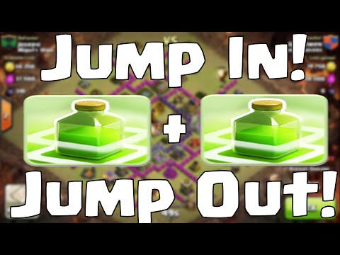 Clash of Clans Jump Spell Strategy (Jump in Jump Out)
