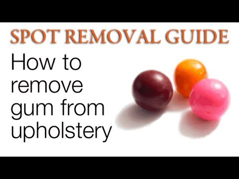 How to Remove Gum from Upholstery | Spot Removal Guide