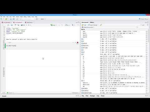How to Convert a Data Set into a Matrix in R. [HD]