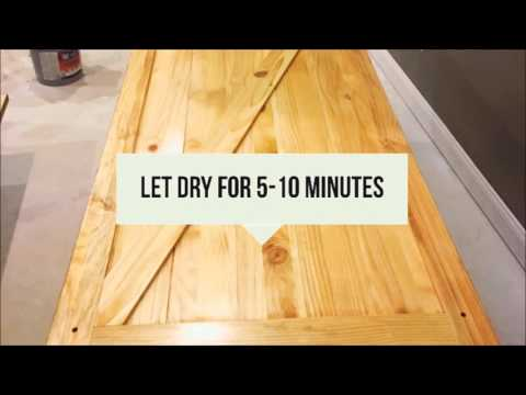 Staining and finishing a Solid Core Pine Barn Door