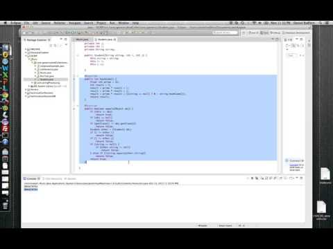 Java Programming Tutorial - 05 - Difference between HashCodes and equals Method
