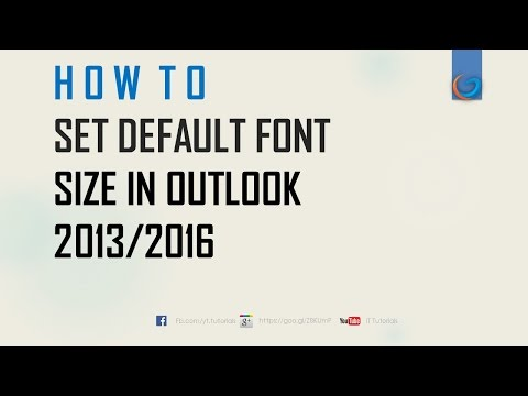 How to  Set Default Font in Outlook 2007, 2010,2013, 2016