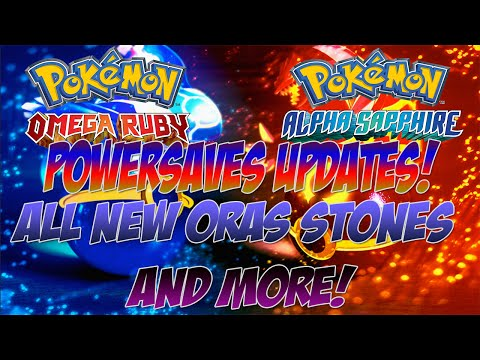 Powersaves Updates:Get All ORAS Megastones Plus Diancie!