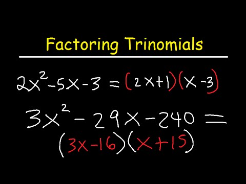 Factoring Trinomials ax2+bx+c By Grouping