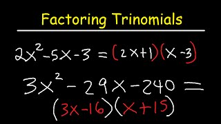 Factoring Trinomials Ax2bxc By Grouping