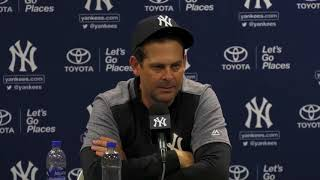 Yankees manager Aaron Boone: First base not an option for Aaron Judge or Giancarlo Stanton   ESPN