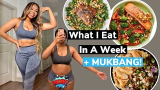 WHAT I EAT IN A WEEK TO LOSE WEIGHT \u0026 BE HEALTHY +  MUKBANG   GREEN CHEF