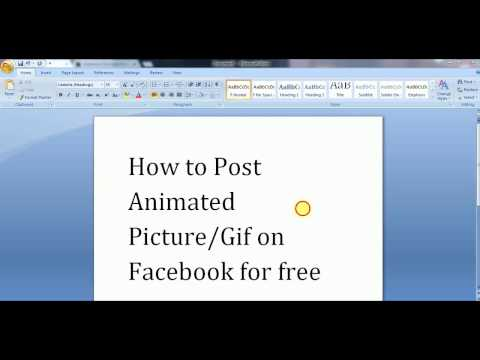 How to Post Animated and Gif Images on Facebook for Free