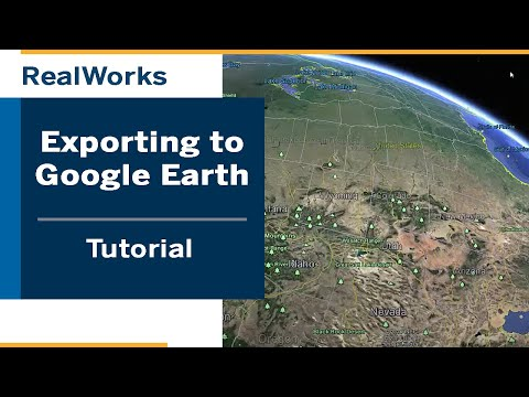 Export from Trimble RealWorks to Google Earth