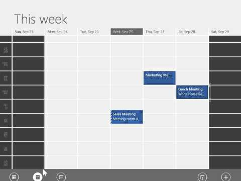 Windows 8.0 Professional -  Change the Calendar View