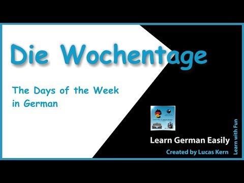 Learn the Days of the Week in German in a fun way | Wochentage auf Deutsch | Learn German