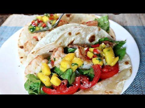 Quick Summer Shrimp Tacos With Fresh Mango Salsa