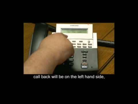 Making a Busy Extension Call you Back when Free on Samsung Telephone Systems