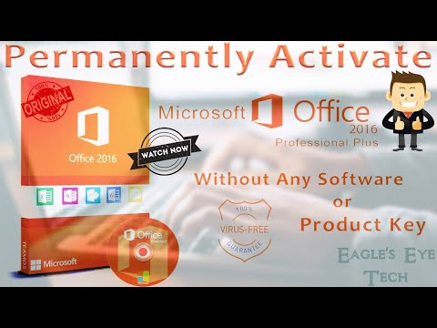 How to Activate Your Microsoft Office 2016 for Free *Without Any Product Key*