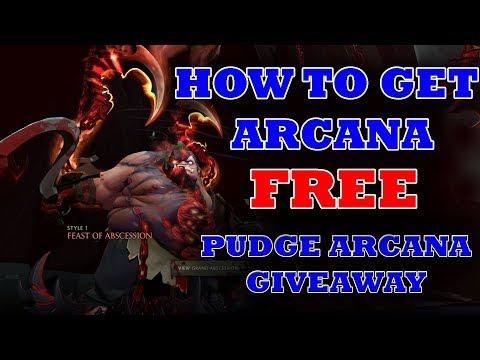 Dota 2 Pudge Arcana free Giveaway