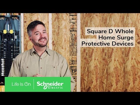 Square D Plug-on Neutral Whole Home Surge Protective Devices. Everything Electrical is Protected