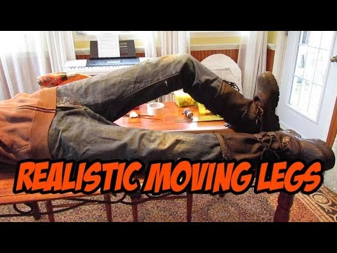 Realistic moving legs, halloween prop