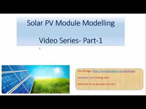 Solar PV module modeling MATLAB/Simulink part 1