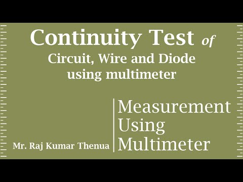 Continuity Test of a circuit, wire and Diode using Multimeter in Hindi