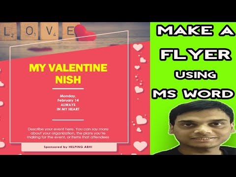 How to Make a Flyer using Microsoft Word easily | | Professional Looking Flyer | Hindi