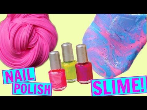 DIY NAIL POLISH SLIME NO GLUE NO BORAX! How to make slime without glue or borax! Glueless slime!