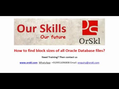 How to find block sizes of all Oracle Database files