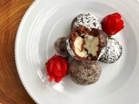 Mini Chocolate Puffs with Cream Cheese in English with Raihana's Cuisines