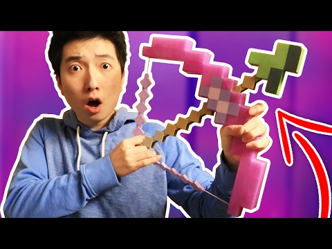 REAL LIFE MINECRAFT BOW TRICK SHOTS