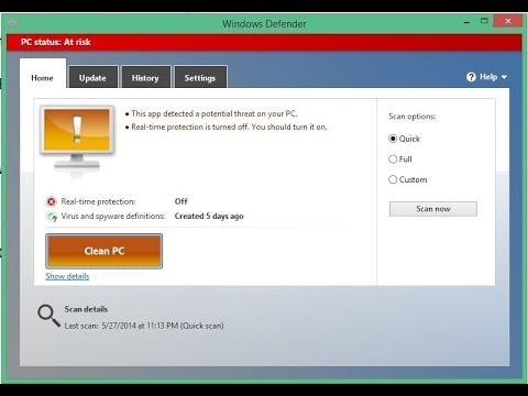 How to Enable and Disable Antivirus on Windows 8