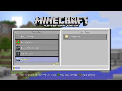 Minecraft ps4 looking at friends world
