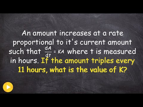 How to find the constant k of rate proportionality