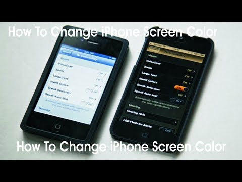 How To Change iPhone Screen Color, Invert Colors iPhone