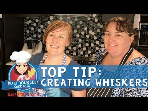 C2TR Top Tip - Creating Whiskers for a Cake