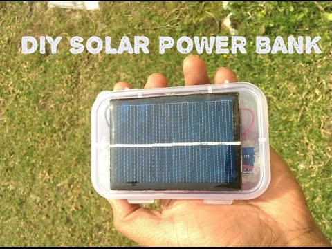 HOW  TO MAKE A SOLAR POWER BANK FROM USED LAPTOP BATTERY