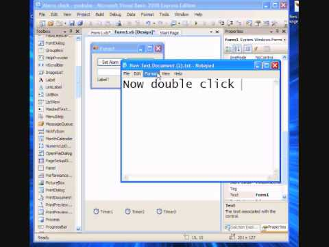 How to make a Alarm clock in visual basic 2008