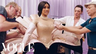 Download Behind Cardi B's Showstopping Grammys Looks | Vogue Video