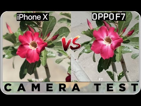 Oppo F7 VS iPhone X Camera Test !