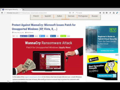 Prevent WannaCry Attacks on Windows7, Windows8 and Windows 10 (Powershell)