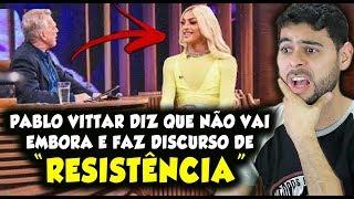 Pabllo Vittar diz que não vai embora do Brasil e faz discurso de