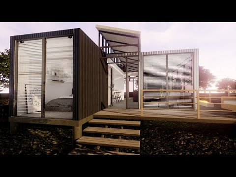 Modern 800 SQ Ft Shipping Container Home Virtual Tour