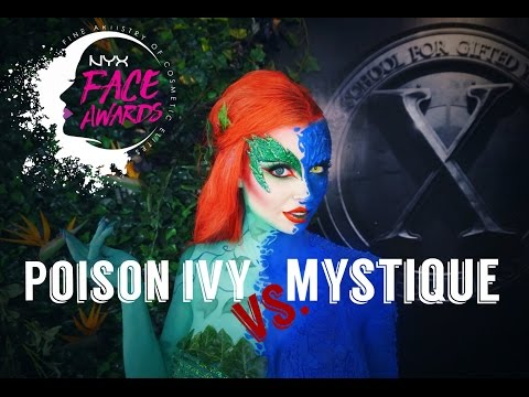 Belgium NYX Professional Makeup FACE Awards | TOP 20 | Poison Ivy vs. Mystique