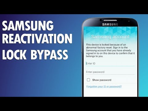 Bypass Samsung Account Activation Lock 2017